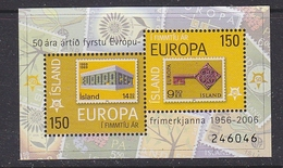 Iceland 2006 50Y Europa M/s ** Mnh (44205) - Europese Gedachte