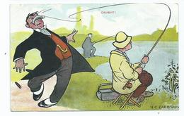 Comic Postcard   Artist  H.c.earnshaw .caught. Fishing Posted 1907 - Illustrators & Photographers