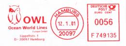 Freistempel 3661 Eule OWL - Machine Stamps (ATM)