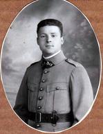 Photo Originale Ovale Portrait De Militaire Col 361 - War, Military