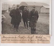 PARC DE BRIOT AVIATION MANOUEVRES DE PICARDIE GAL MICHEL 18*13CM Maurice-Louis BRANGER PARÍS (1874-1950) - Aviación