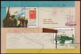 Argentina - 2004 - Antarticque Argentin. Centenaire De L'Observatoire Méteoroligique - Yvert BF 82 - Blocks & Sheetlets