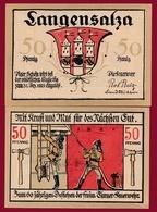 Allemagne 1 Notgeld De 50 Pfenning Stadt Langensalza (RARE) Dans L 'état N °4561 - Verzamelingen