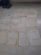 Lot 0,380kg ~ 100 Documents Commerciaux, Factures 1924, F-Comté, Alsace.. - France