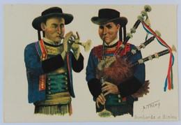 CPA Illustrateur A. Thiry Bombarde Et Biniou Bagad Costume Breton Folklore - Altre Illustrazioni