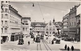 SWITZERLAND-SCHWEIZ-SUISSE-SVIZZERA-ST. GALLEN-hechtplatz-ANIMATISSIMA CON TRAM-CARTOLINA VIAGGIATA IL 1-12-1949 - SG St-Gall