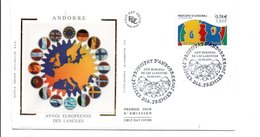 ANDORRE FDC 2001 ANNEE EUROPEENNE DES LANGUES - FDC