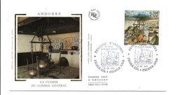 ANDORRE FDC 2001 LA CUISINE DU CONSEIL GENERAL - FDC