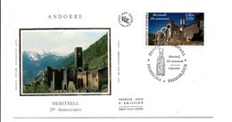 ANDORRE FDC 2001 MERITXELL - FDC