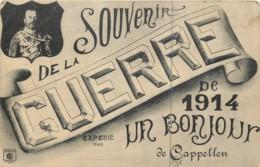 Belgique - Kapellen - Rare Carte Souvenir De La Guerre De 1914 - Bonjour De Cappellen - Ouvert Par Autorité Militaire FM - Kapellen