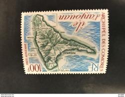 COMORES 1974 1 V Neuf ** MNH PA 49 Carte D Anjouan COMOROS KOMOREN - Isla Comoro (1950-1975)