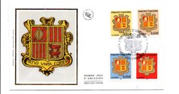 ANDORRE FDC 2002 SERIE ARMOIRIES - FDC