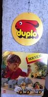 PUBLICITÉ LEGO DUPLO DES ANNÉES 1980/1990 ? UN MOBILE DE 2 ÉLÉMENTS A SUSPENDRE 38X38cm - SITE Serbon63 - Duplo
