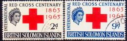 BRITISH SOLOMON ISLANDS 1963 SG #101-02 Compl.set Used Red Cross - British Solomon Islands (...-1978)