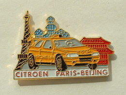PIN'S CITROEN - PARIS PEKIN - MICHELIN - TOTAL - TOUR EIFFEL - Citroën