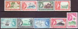 BRITISH SOLOMON ISLANDS 1963-64 SG #103-11 Compl.set Used Wmk Mult.Crown Block CA - British Solomon Islands (...-1978)