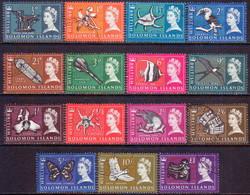 BRITISH SOLOMON ISLANDS 1965 SG #112-126 Compl.set Used - British Solomon Islands (...-1978)