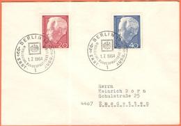 GERMANIA - GERMANY - Deutschland - ALLEMAGNE - 1964 - Bundespräsident Heinrich Lübke - FDC - Berlin - FDC: Buste