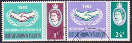 BRITISH SOLOMON ISLANDS 1965 SG #129-30 Compl.set Used Int. Co-operation Year - British Solomon Islands (...-1978)