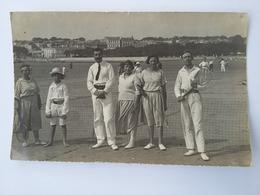 CPA 1912 Photo D'un Groupe Qui Pratique Le Tennis Sur La Plage De Royan 1913 - Tennis