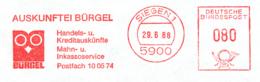 Freistempel 3739 Eule Bürgel Auskunftei - Poststempel - Freistempel