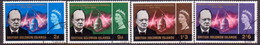 BRITISH SOLOMON ISLANDS 1966 SG #131-34 Compl.set Used Churchill Commemoration - British Solomon Islands (...-1978)