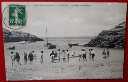 BELLE ISLE EN MER   SAUZON  La Plage De Bordery    (quelques Manques Voir Scan) - Belle Ile En Mer