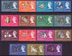BRITISH SOLOMON ISLANDS 1966 SG #135A-52A Compl.set Used Decimal Currency Wmk Upright - British Solomon Islands (...-1978)