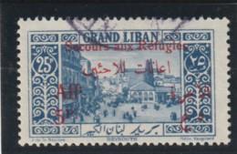 SURTAXE Timbre De 1925  Au Profit Des Réfugiés Du Djebel Druze  N° 74 Oblitéré - Gran Líbano (1924-1945)