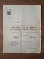 1928 - Société D'Encouragement Aux Sapeurs Pompiers De Brunoy - Assemblé Générale - Vieux Papiers