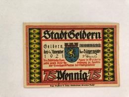 Allemagne Notgeld Geldern 75 Pfennig - Collections