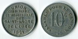 N93-0589 - Monnaie De Nécessité - Saint-André-de-l'Eure - Union Commerciale Et Industrielle - 10 Centimes - Monétaires / De Nécessité