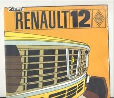 Catalogue - Voiture RENAULT 12- Automobile, Oldtimer (b258) - Publicités