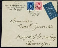 "Egypte - 1935 ""Mayer Sasson Basri Alexandrie"" Affr. Roi Fouad 1er à 33 M. Sur Enveloppe, Pour Bergedorf (All) - B/TB - - Storia Postale"