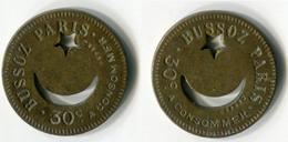 N93-0590 - Monnaie De Nécessité - Paris - Bussoz - 30 Centimes - Monetari / Di Necessità