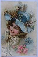 Belle CPA Précurseur 1905 Femme Au Chapeau Jeanne Antoinette Leray 11 Rue Barry Paris - Mode