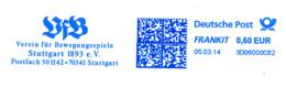Freistempel 3757 Bewegungsspiele - Marcofilia - EMA ( Maquina De Huellas A Franquear)