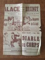 Palace, Place De La Gare Brunoy, Affichette Les Disparus De Saint Agil, Erich Von Stroheim, Michel Simon, Armand Bernard - Old Paper