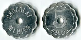 """N93-0591 - Monnaie De Nécessité - Noisiel - Chocolat Menier - 5 Centimes Type 2 Avec """"centimes"""" Au Revers - Monetary / Of Necessity"""