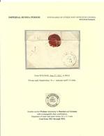 Lettland Latvia 1821 WOLMAR Valmiera Prephilately Cover To Riga - Lettonie