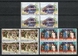 Guinea Ecuatorial 1988. Edifil 109-111 X 4 ** MNH. - Äquatorial-Guinea