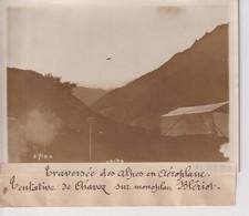 TRAVERSÉE DES ALPES EN AÉROPLANE CHAVEZ  SUR MONOPLAN BLERIOT  18*13CM Maurice-Louis BRANGER PARÍS (1874-1950) - Aviación