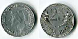 N93-0592 - Monnaie De Nécessité - Hérault - Chambres De Commerce - 25 Centimes 1920-1924 (type Sans Signature Thévenon) - Monétaires / De Nécessité