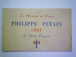 """GP 2019 - 1933   LIVRET De 46 Pages  """"Philippe  PETAIN Chef De L'Etat Français""""   XXX - 1939-45"""