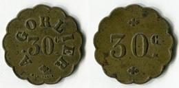 N93-0594 - Monnaie De Nécessité à Localiser - A.Gorleir - 30 Centimes - Monétaires / De Nécessité