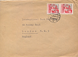 Czechoslovakia 1968 Cover To Great Britain With 2 X 60 H. Ostrava Metallurgical Plant - Fabbriche E Imprese