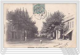 Cpa Réf-JPS-1006 (  Algérie )  Attelage Au Bout De L'Avenue De La Gare De  BOUFARICK - Autres Villes