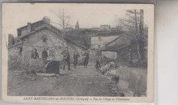 SAINT  BARTHELEMY DE BUSSIERE  VUE DU VILLAGE DE VILLECHALANE - France