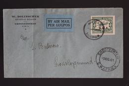 South West Africa Airmail Cover Grootfontein -> Windhoek -> Swetopmund 3-8-1931 - Südwestafrika (1923-1990)