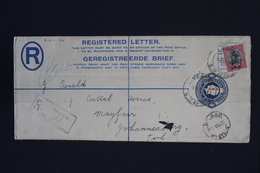 South West Africa Registered Cover NGK Nr 9 HG10a USAKOS-> JOHANNESBURG   Aug 1933 - Südwestafrika (1923-1990)